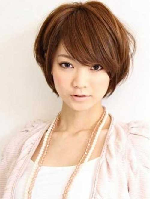 Strange Short Haircuts With Bangs For Round Faces Long Hairstyles Short Hairstyles Gunalazisus