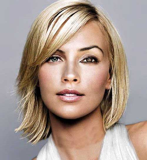 Casual Short Side Swept Hairstyles