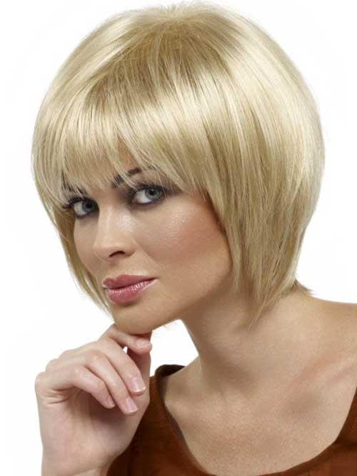 Best Chin Length Layered Bob with Bangs