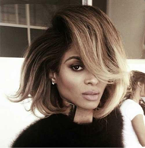 Ciara Short Messy Straight Hairstyle