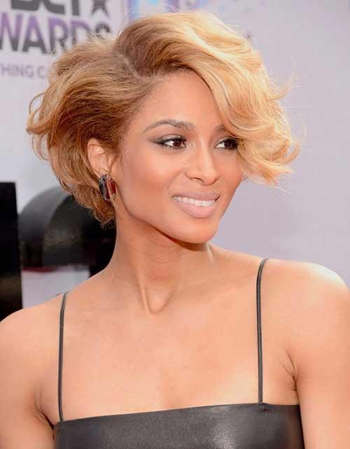 Ciara Short Thick Curly Blonde Hair