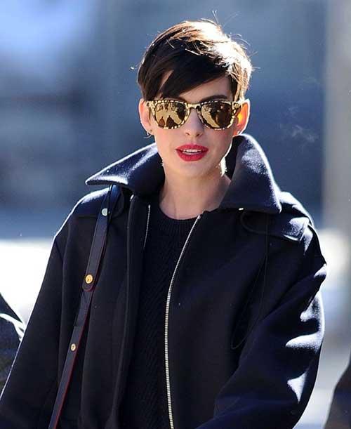 Anne Hathaway Cool Pixie Haircuts