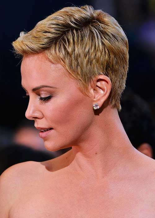 Charlize Theron Cool Pixie Hairstyles