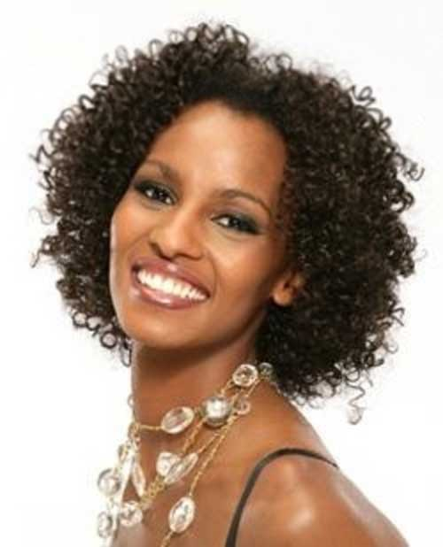 Nice Curly Hair Idea for Black Women Over 50
