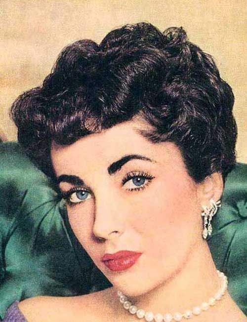 Curly Short 50s Hairstyles for Women