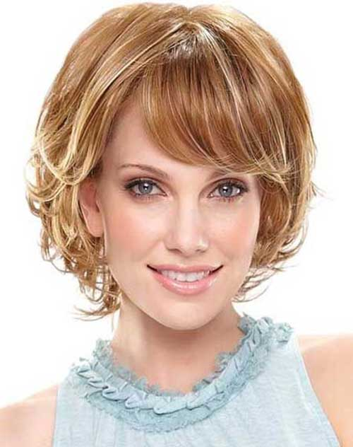 New Cute Short Hair with Bangs 2014