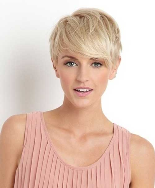 Long Bang Pixie Cut