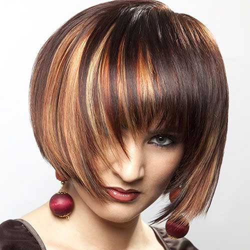 Dark Brown Hair with Red Lights for Women