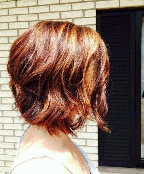 Dark Red Ombre with Blonde Short Hair