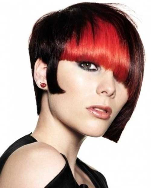 Edgy Two Tone Colored Hair Ideas