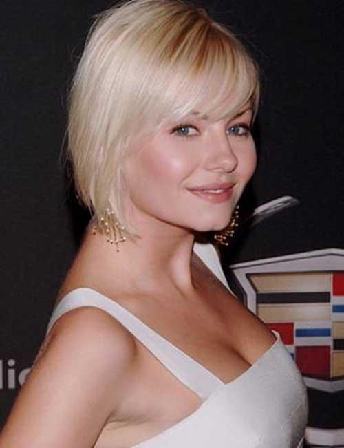Elisha Cuthbert Layered Bangs Short Hairstyles