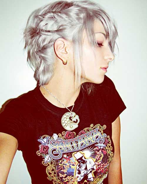 Grey White Short Hairstyles