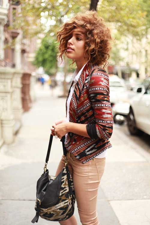 Hairstyles for Short Curly Frizzy Bobbed Hair