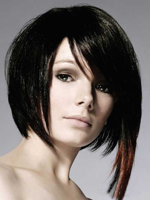 Inverted Bangs with Asymmetrical Bob