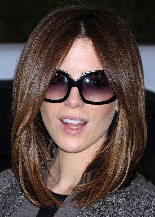 Kate Beckinsale Long Straight Bob