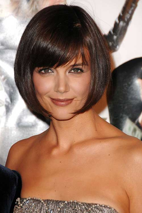 Katie Holmes Bob with Side Bangs