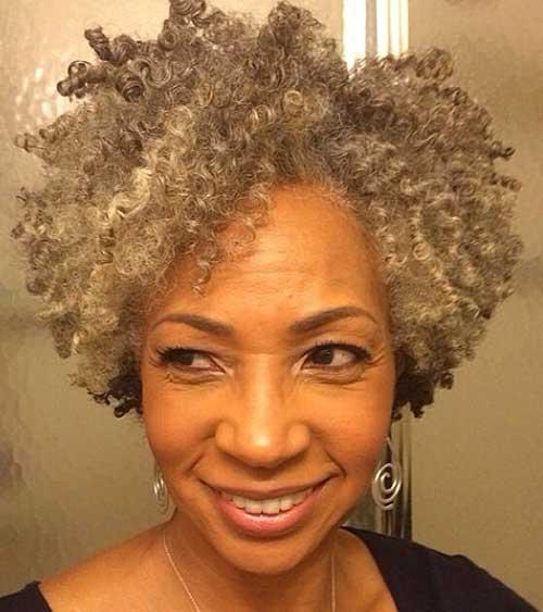 Kink Curly Short Hair for Black Women Over 50
