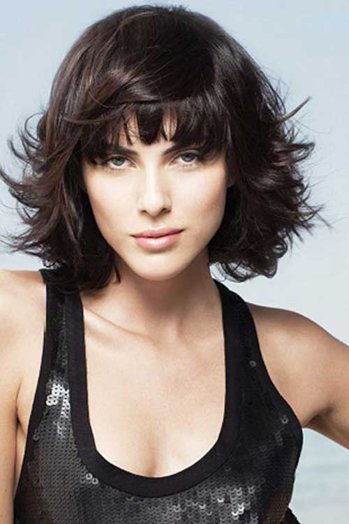 Layered Black Short Hair and Bangs 2014