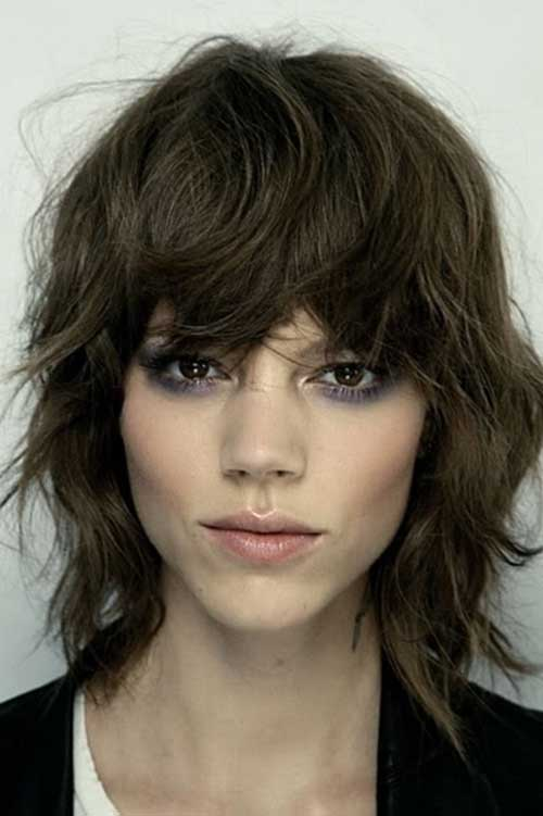 Layered Bob with Bangs for Shaggy Thick Hair