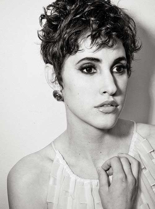 Messy Short Pixie Curly Hairstyles