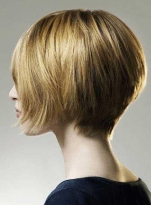 Modern Bob Hairstyle Back View