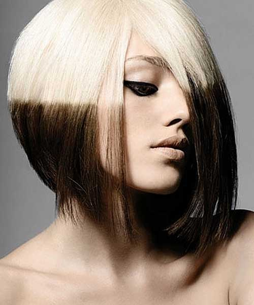 Admirable 15 Two Tone Hair Color Ideas For Short Hair Crazyforus Short Hairstyles Gunalazisus