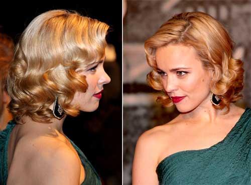 Pin Up Short Curly Hair 50s