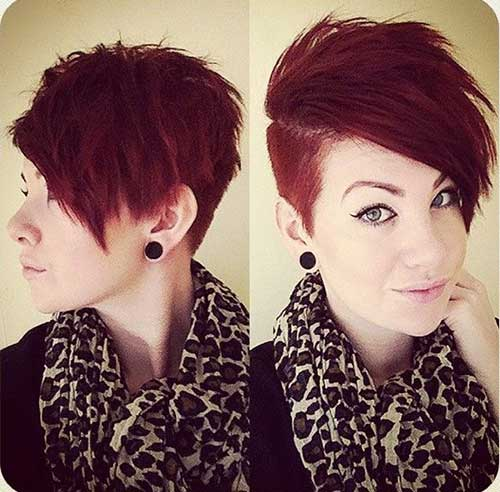 Cute Pixie Cut Shaved Sides