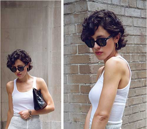 Pixie Cut Curly Hair With Bangs Karla Deras's Curly Pixie Cut