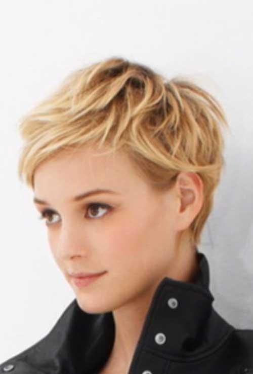 Blonde Pixie Haircuts for Wavy Hair