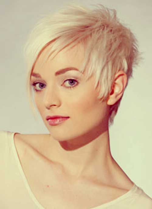 Pixie with Layered Long Bangs