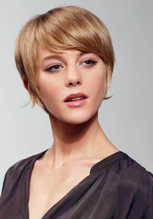 Pixie Cut with Strawberry Blonde Hair