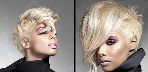 Platinum Blonde Short Hairstyles Idea for Black Women