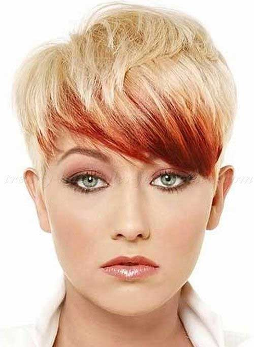 Red and Blonde Short Pixie Hairstyles