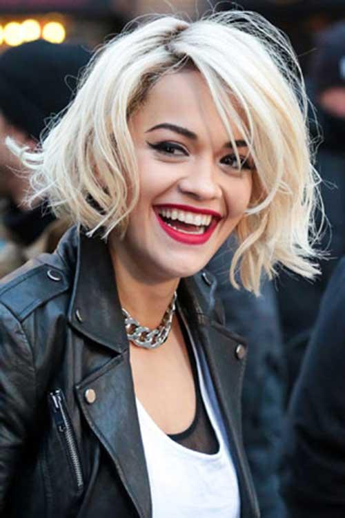 Rita Ora Short Edgy Hair