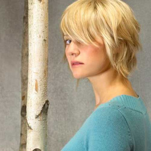 Shag Haircuts with Bangs for Thick Blonde Hair