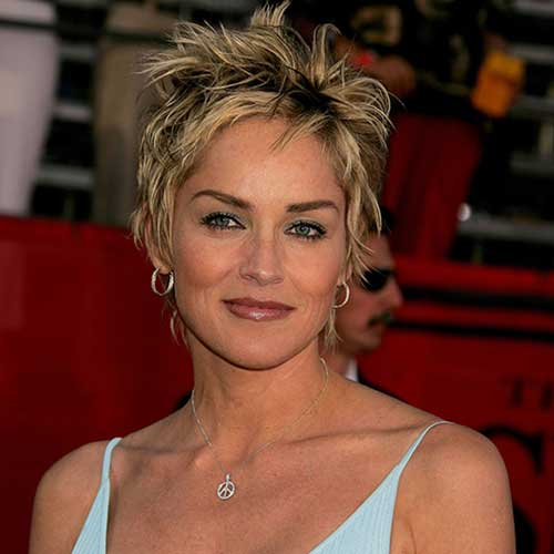 Long hairstyles: Best Sharon Stone Short Hairstyles