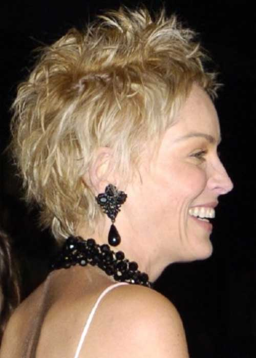 Sharon Stone Pixie Haircut Side View