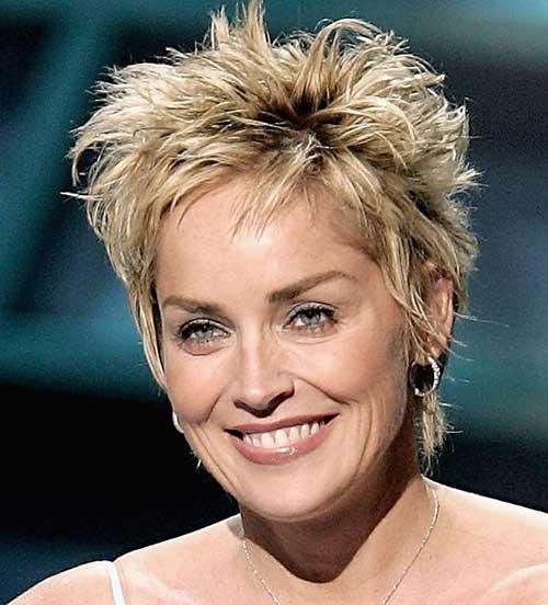 Sharon Stone Sassy Pixie Haircut