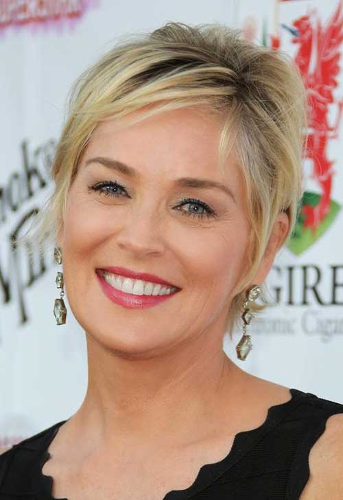 Sharon Stone Short Hairstyle For Women Over 50 Pictures to pin on ...