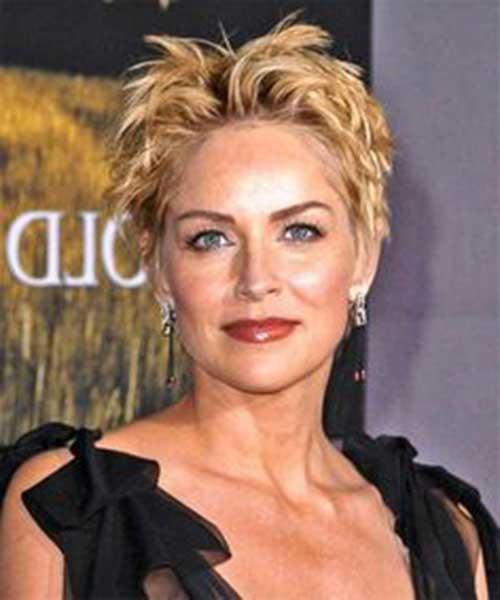 Sharon Stone Very Short Hairstyles