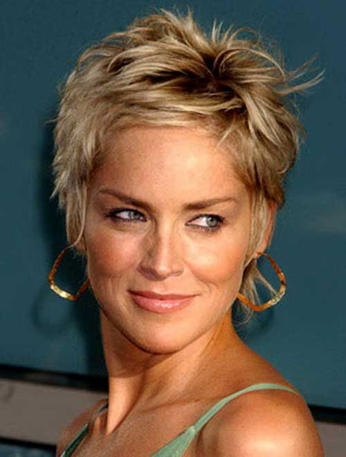 Sharon Stone Short Hairstyles Back View | Best Hairstyles Collections