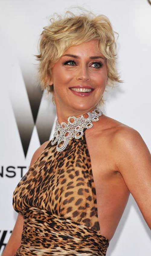 Sharon Stone Over 50 Hair Cut With Back View | Short