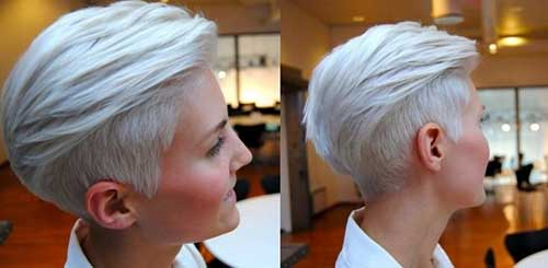 Shaved Silver Short Hairstyles