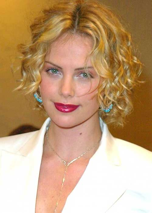 Short Blonde Frizzy Curly Hairstyles