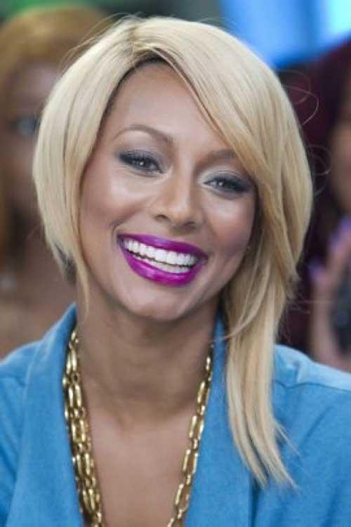 Short Blonde Asymmetrical Hairstyles for Black Women