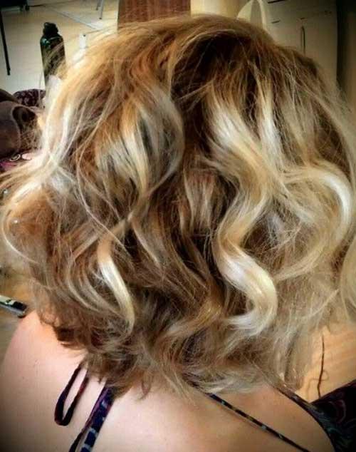 Short Curly Blonde Balyage Hairstyles