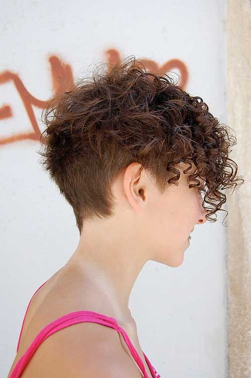 Short Frizzy Curly Cuts for Women