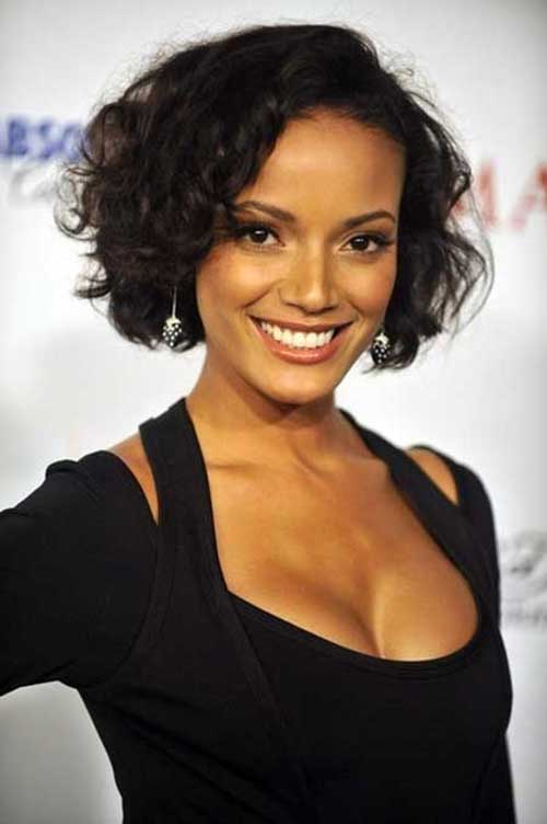 Short Dark Curly Hairstyles for Black Women Over 50