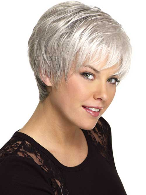 Short Silver Grey Hair Cuts